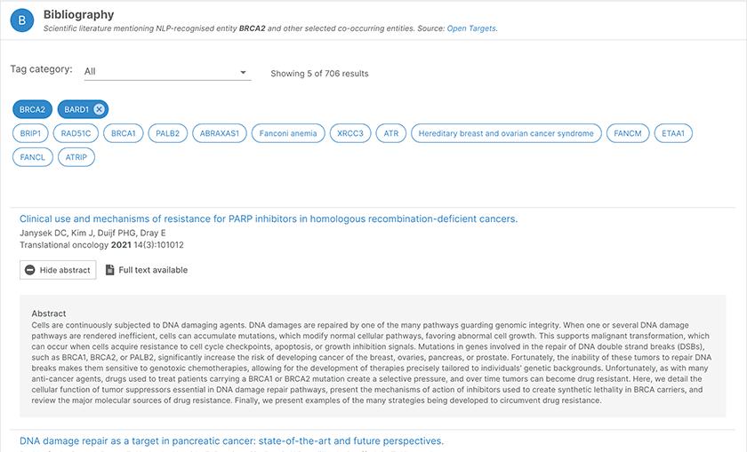 Bibliography for BRAC2